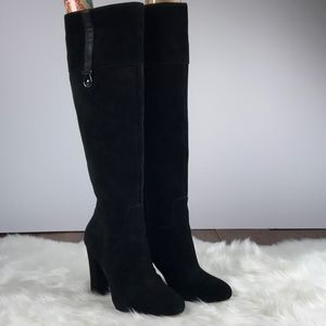 Joan & David Sterla black suede boots